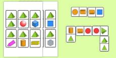 2D & 3D Shape Dominoes
