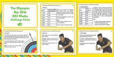 The Olympics Rio 2016 lks2 Maths Challenge Cards Romanian Translation