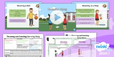 PlanIt - Year 1 PE - Throwing and Catching Lesson 2: Bouncing Along Lesson Pack