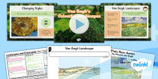 Art and Design: Landscapes and Cityscapes: Van Gogh Landscapes: KS1 Lesson Pack 3