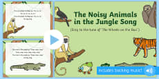 The Noisy Animals in the Jungle Song PowerPoint