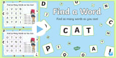 Find a Word  PowerPoint