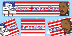 Martin Luther King Display Banner