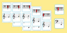 Piano Musical Note Recognition Memory Cards