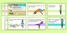 Gymnastic Challenge Cards Pdf Cards
