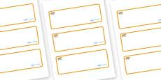 Jaguar Themed Editable Drawer-Peg-Name Labels (Blank)