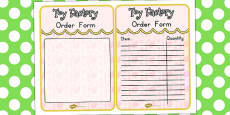 Australia - Toy Factory Booking Order Form