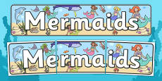 Mermaids Display Banner