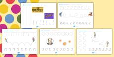 Roald Dahl Themed Pencil Control Activity Sheets