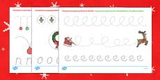 Karty Doskonalenie kontroli ołówka Święta Bożego Narodzenia