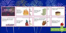 * NEW * KS2 Bonfire Night Ice Breaker Cards