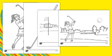 Rio 2016 Olympics Golf Colouring Sheets