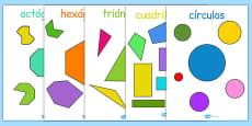 2D Regular and Irregular Shape Posters Spanish