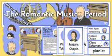 Romantic Period Music Display Pack