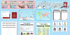 Winter Holidays Travel Agents Role Play Pack