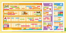 * NEW * Academic Year 2017-2018 A3 Display Calendar
