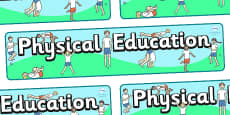 Physical Education Display Banner Students