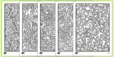William Morris Themed Mindfulness Colouring Sheets