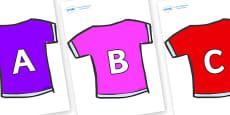 A-Z Alphabet on T-Shirts