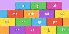 Final Letter Blends on Bricks (Multicolour)