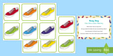 Shoe Pairs Colour Matching Busy Bag Prompt Card and Resource Pack
