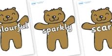 Wow Words on Teddy Bears