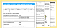 Childminding Contract and Advice Pack