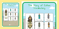 The Story of Esther Bible Story Vocabulary Poster