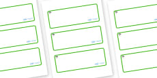 Cypress Tree Themed Editable Drawer-Peg-Name Labels (Blank)