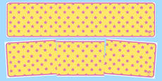 Yellow with Pink Stars Editable Display Banner