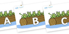 A-Z Alphabet on Little Speckled Frogs