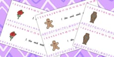 Traditional Tales Themed Number and Alphabet Strips