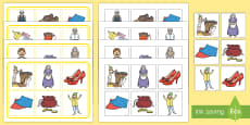 The Elves and The Shoemaker Matching Pictures Board Game