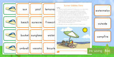 Summer Syllables Game