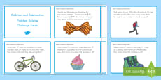 Addition and Subtraction Problem Solving Task Cards