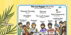 The Last Supper Word Mat Romanian Translation
