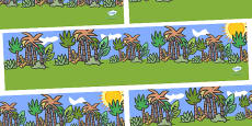 Jungle Animal Themed Small World Background