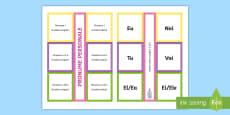 Categoriile pronumelui personal De lipit în caiete
