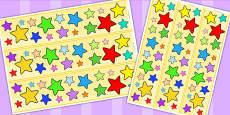Multi Coloured Star Display Borders
