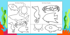Cut-Out Sea Creature Templates (Under the Sea)