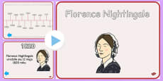 Florence Nightingale Timeline PowerPoint Polish