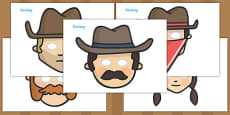 Wild West Role Play Play Masks