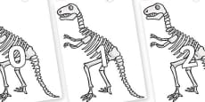 Numbers 0-100 on Dinosaur Skeletons
