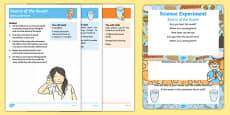 EYFS All About Me / Ourselves - My Senses Science Experiments Resource Pack