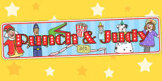 Punch and Judy Display Banner