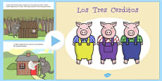 The Three Little Pigs Story PowerPoint Spanish