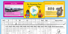 An Amazing Fact a Day April PowerPoint and Activity Sheet Pack