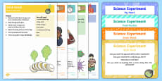 EYFS My Body Science Experiments Resource Pack