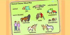 Animal Classes Word Mat
