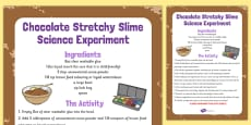 Chocolate Stretchy Slime Science Experiment